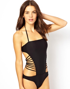 ASOS | ASOS Strappy Back Bandeau Swimsuit at ASOS