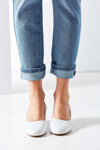 shoes ballet flats white shoes pastel