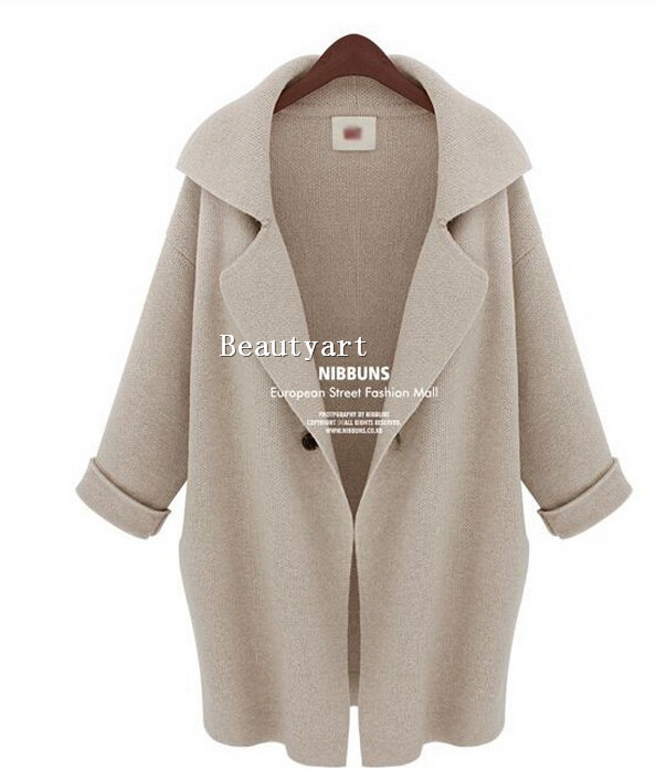 2014 Winter Casacos Femininos Time limited Rushed Long Knitted Coat Women Fashion Trench 3 colors size s l -in Trench from Apparel & Accessories on Aliexpress.com