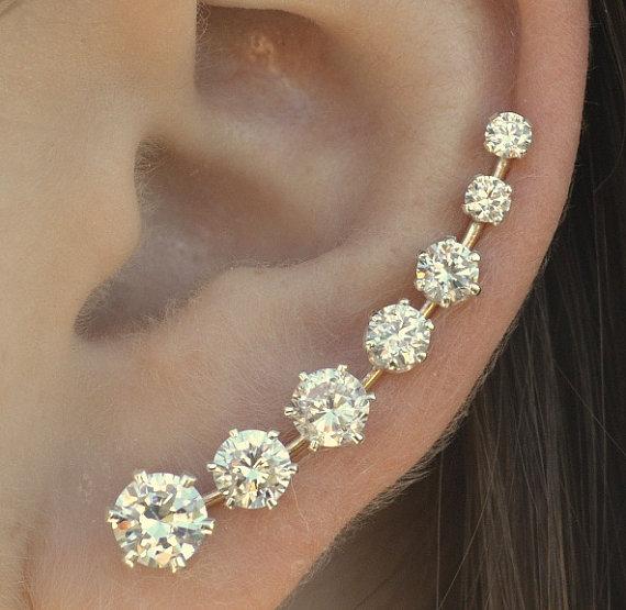Ear Pin  Ooh La La   Sterling Silver  or 14K by ChapmanJewelry