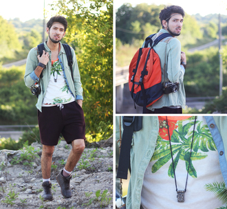 bobby raffin blogger menswear palm tree print outdoors sportswear tank top