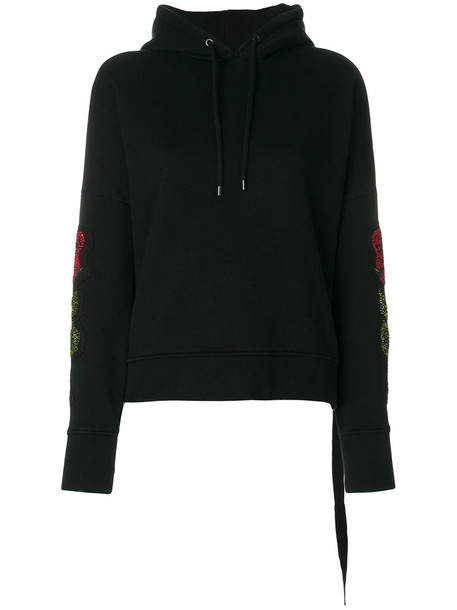 MARCELO BURLON COUNTY OF MILAN hoodie embroidered women cotton black sweater