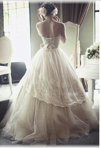 girly wedding dress wedding clothes lace dress vintage dress vintage wedding dress vintage white dress princess wedding dresses