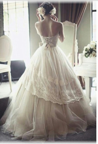 vintage wedding dress white dress wedding dress vintage girly lace dress wedding clothes vintage dress