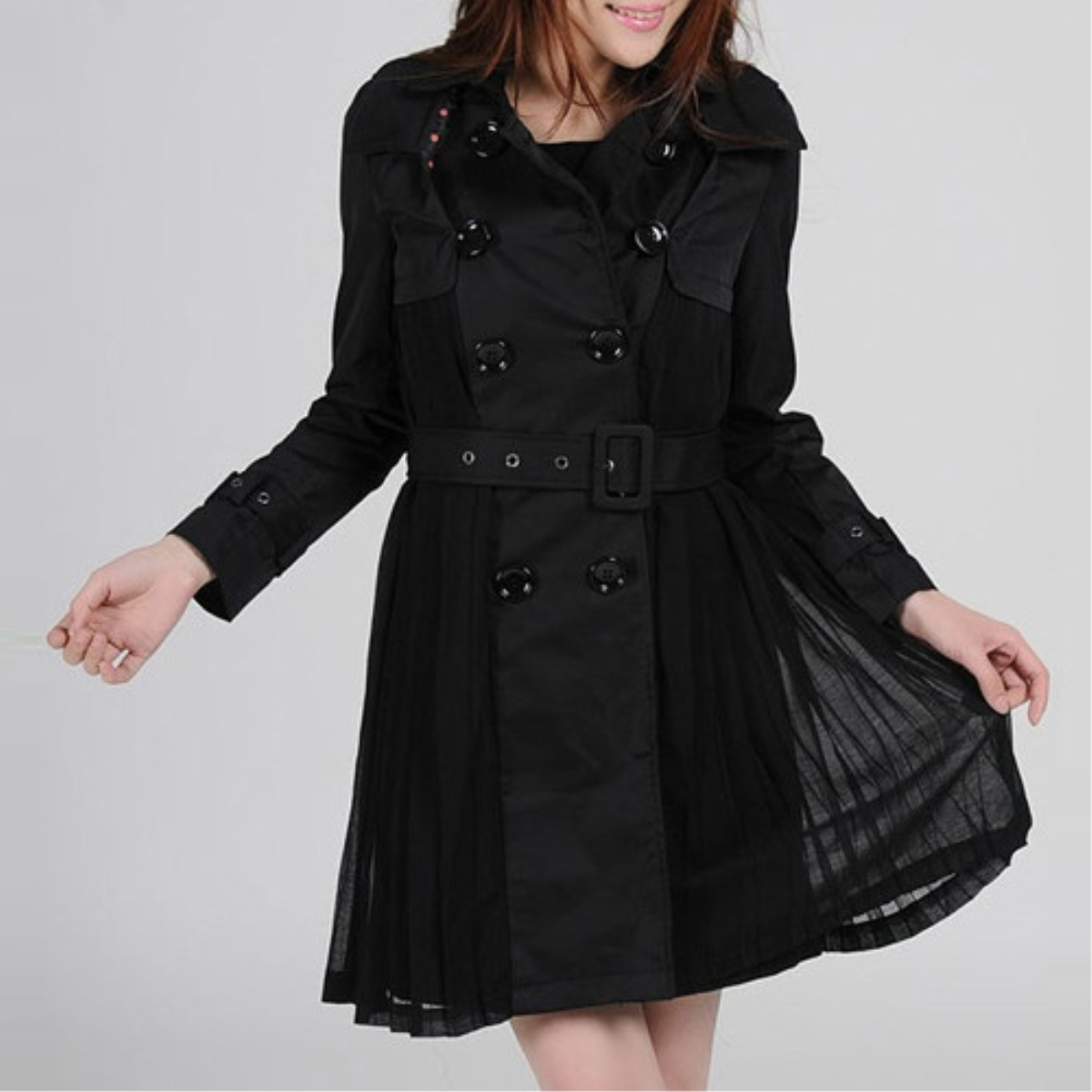Women's New Style Chiffon Slim Waistband Coat,Cheap in Wendybox.com