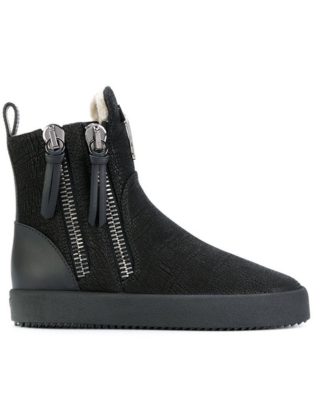 GIUSEPPE ZANOTTI DESIGN women leather black shoes