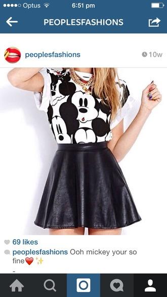 disney mickey mouse skater skirt skirt