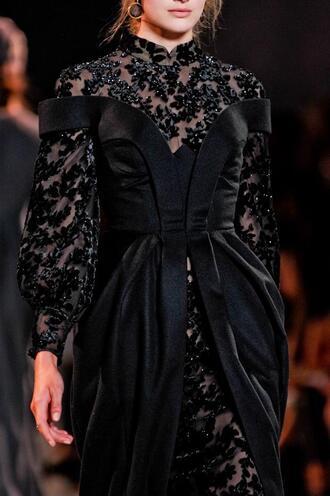 dress black lace dress prom dress formal dress goth hipster grunge floral