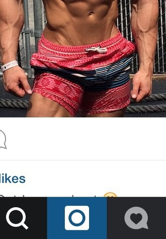 shorts red swimwear chubbies jeffseid tribal pattern reds trunks bottoms pants