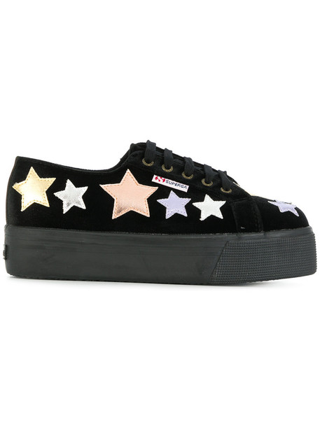 Superga women sneakers cotton black shoes