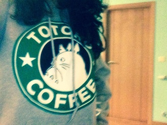 blouse starbucks coffee trendy anime movie totoro sweatshirt