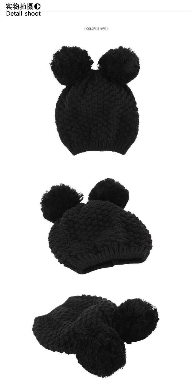 Oreilles de mickey 2013 chapeau tricoté chapeau bonnet de laine