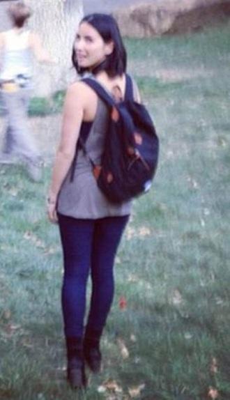 bag backpack black girl street streetwear