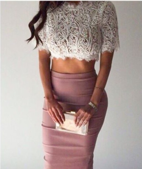High Waisted Nude Skirt - Shop for High Waisted Nude Skirt on ...