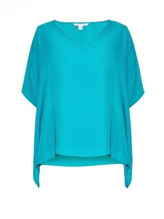blouse blue top
