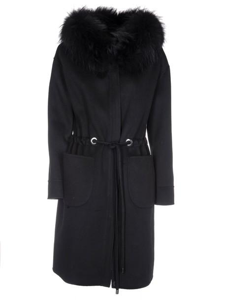 Rizal parka black coat