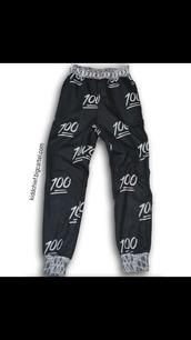 pants,emoji pants