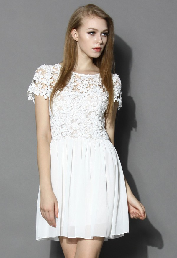 chicwish white dress open-back