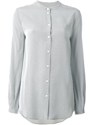 shirt striped shirt green top