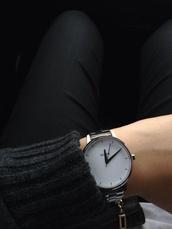 jewels,white watch,watch,minimalist jewelry