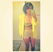 shorts,gold sequins,shinning