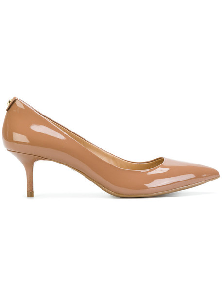 MICHAEL Michael Kors heel women pumps leather nude shoes