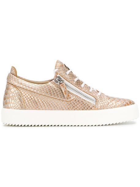 GIUSEPPE ZANOTTI DESIGN women python sneakers leather grey metallic shoes
