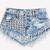 Bel Air Acid Studded Babe Shorts   RUNWAYDREAMZ