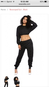 pants,sweater,jumpsuit,sweatshirt,swag,streetwear,dope,top,black,white,crop tops,crop,black crop top,long sleeves,long sleeve crop top,black pants,loose crop top,white heels,shoes,asia dee,asiadee,curly hair,natural hair,african american,cropped sweater,tank top,colorful,topcrop,girl,grey,gris,style,chica,grey sweater,black and white