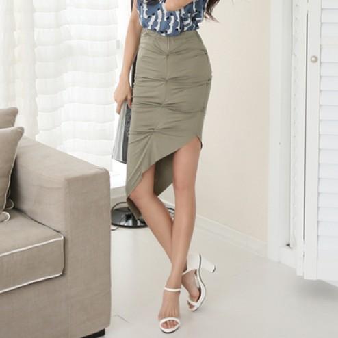 Unbalanced twist skirt