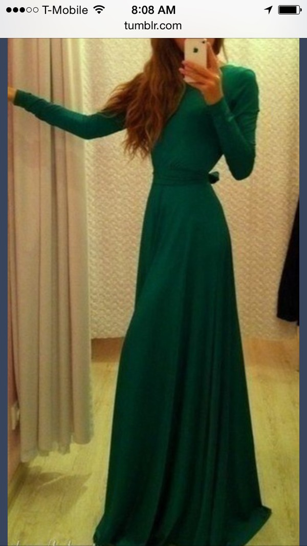 long sleeve dress forest green maxi dress dress