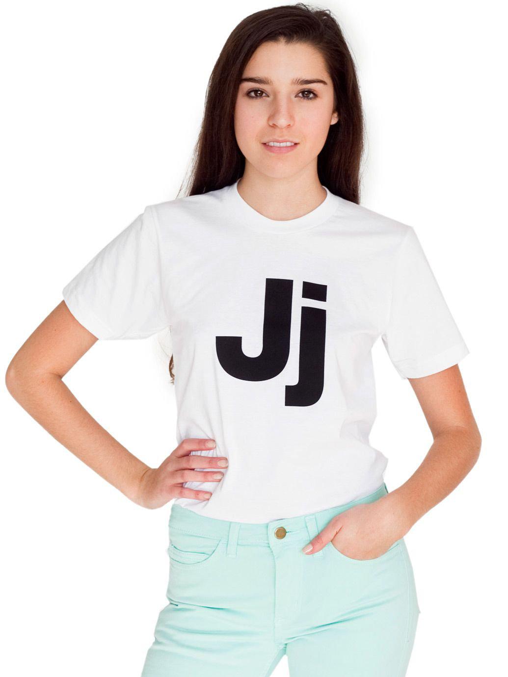 Unisex Helvetica Alphabet T-Shirt | American Apparel