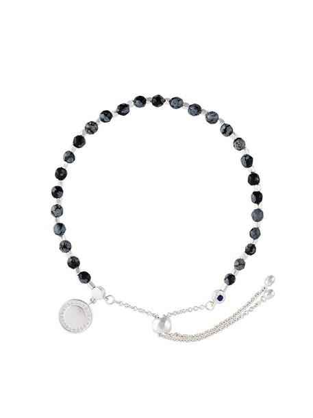 women silver black jewels