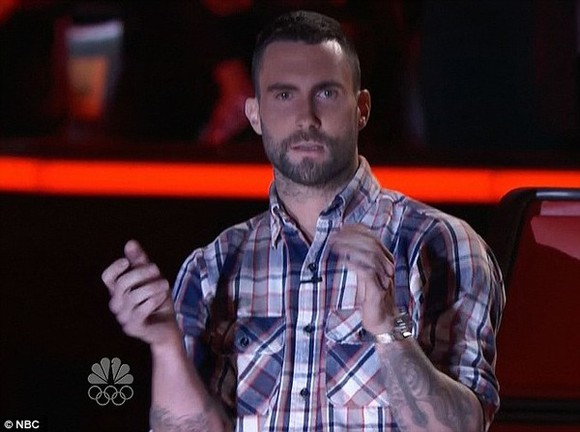 shirt adam levine plaid shirt the voice