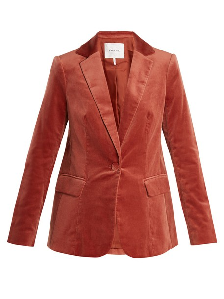 FRAME blazer velvet dark orange jacket