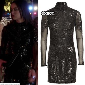 dress 90210 black dress nice kylie jenner kendall jenner sequins party dress