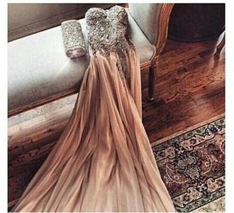 dress champagne prom dress prom dress gown embellished dress