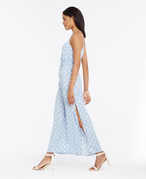 Petite Polka Dot Maxi Dress Ann Taylor