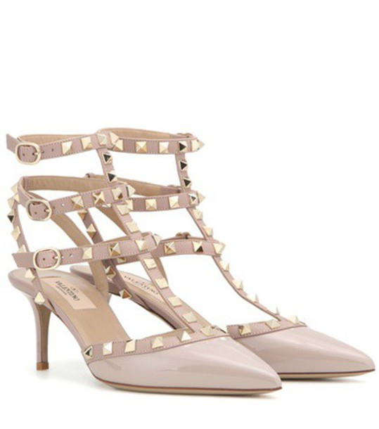 Valentino heel pumps leather beige shoes