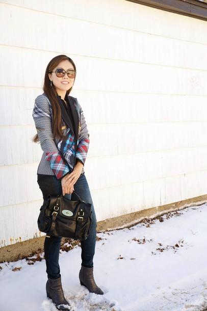wearing fashion fluently blogger jacket shoes bag
