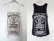 NEW JACK DANIELS WHISKY LABEL SLEEVELESS VEST TANK T-SHIRT CLASSIC DESIGN LADIES | eBay