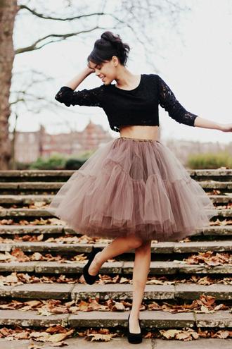 skirt tulle skirt tutu lace crop tops tulle skirt