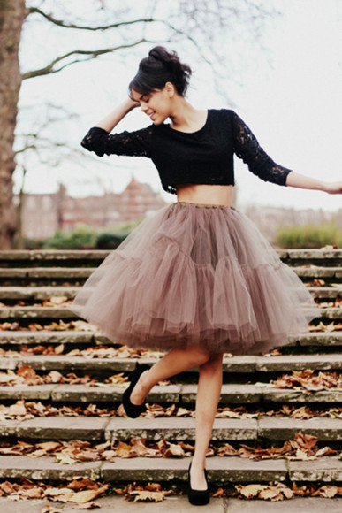 skirt tutu ballerina skirt lace crop tops