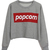Popcorn Print Grey Sweatshirt | Pariscoming