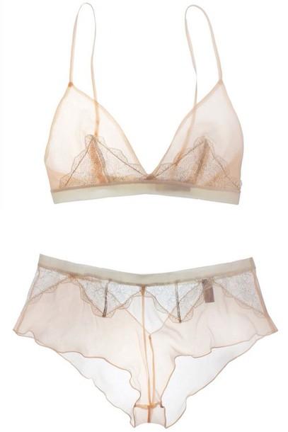 underwear beige nude bra letter sheer mesh bridal lingerie
