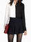 Contrasted colour black & white colorblock lapel single breasted blouse