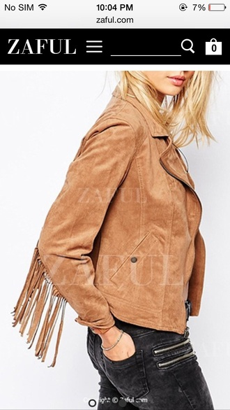 fall jacket suede jacket fringed jacket