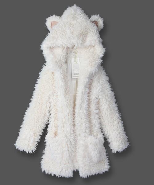 Eastknitting as 090 new fashion winter teddy princess bear soft fur fun hoodie coat top jacket outwear free fast shipping