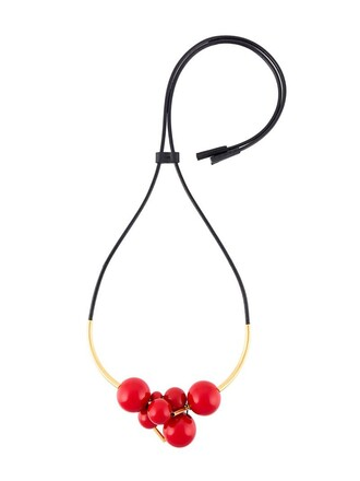 necklace red jewels
