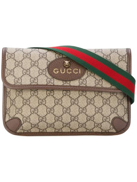 998f4f5f8e81 gucci Gucci - GG Supreme belt bag - women - Leather - One Size, Brown,  Leather